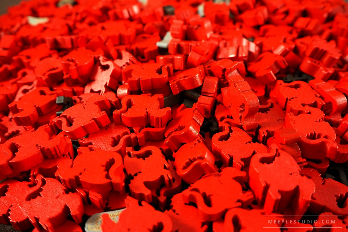 meeple dragon red stack