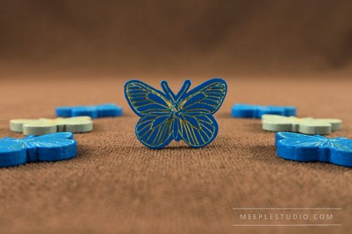 meeple butterfly blue engraver